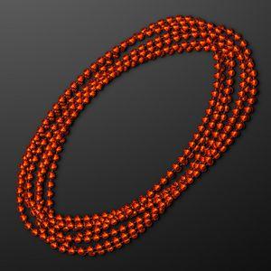 Custom 7mm Orange Mardi Gras Beads