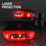 Custom Red Laser Tail Light with Bike Lane Projection