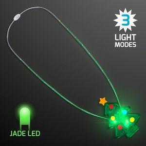 Custom Flashing Jade LED Christmas Necklace