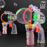 Custom LED Multi-size Big Bubble Gun w/Music