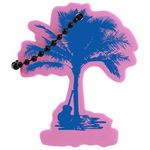 Custom Foam Full Color Floating Key Tag - Palm Tree