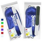 Custom Royal Blue Sleep Mask Getaway Kit w/ Nail File