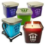 Custom 8 Oz. Premium Glass Color Cube Soy Candle