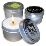 Custom 4 Oz. USA Made Travel Candle Tin