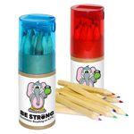 Custom 12 Piece Color Pencil Set w/ Sharpener & Multi-Color Decal
