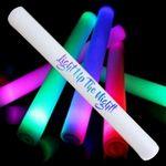 Custom Multicolor Light-Up Foam Stick w/Full Color Print