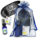 Custom Sleep Mask Kit w/ Lavender Spray In Organza Bag (6