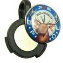 "Lucky Golf Ball Marker Hat Clip (3/4"" Domed Marker)"