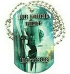 Custom Dog Tag Pendant / Charm with Ball Chain Necklace (Single Sided)