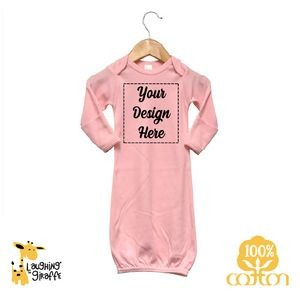 White The Laughing Giraffe® Short Sleeve Cotton baby Bodysuit