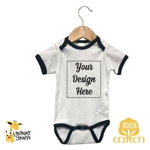 Natural The Laughing Giraffe® Long Sleeve Cotton Baby Bodysuit