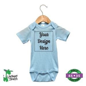 The Laughing Giraffe® Short Sleeve 65%/35% Baby Bodysuit - Pastel Colors
