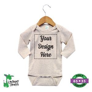 The Laughing Giraffe® Long Sleeve Cotton Jumpsuit - Heather Gray