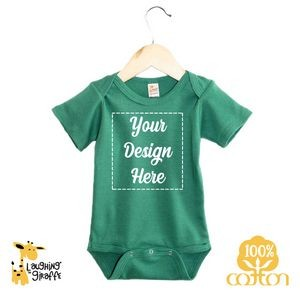 The Laughing Giraffe® Short Sleeve Cotton baby Bodysuit - Bright Colors