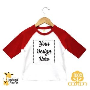 The Laughing Giraffe® Short Sleeve Cotton Crew Neck baby Bodysuit - White