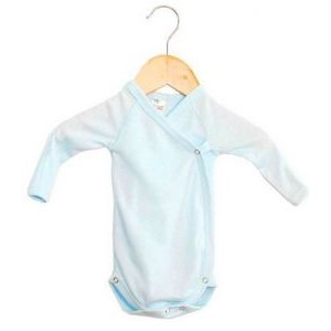 The Laughing Giraffe® Preemie Long Sleeve Kimono Romper with Mittens - Pastels