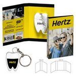 Custom Tek-Booklet - Tooth Shaped Dental Floss w/Keychain