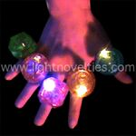 Custom A Light Up Ring - Large Gem - Multi-color LED