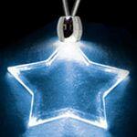 Custom Light Up Necklace - Acrylic Star Pendant - Blue
