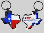 Custom Light Up Texas Keychain w/ White LED Light