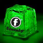 Custom Light Up Ice Cube - Clear - Green LED