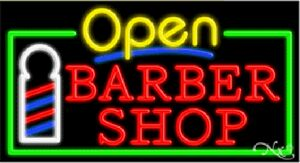 Barber Shop Open On Monday : Neon Sign w/ OPEN - Barber Shop - 303-154611 - IdeaStage Promotional ...