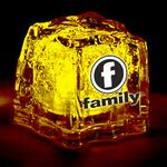 Custom Light Up Ice Cube - Clear - Yellow LED