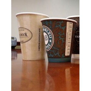 HOT CUPS: White Paper Cups 16 Ounce