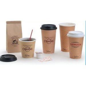 24 Oz. Tan Insulated Hot Paper Cup
