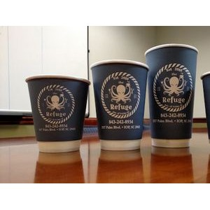 HOT CUPS: DOUBLE WALL White Paper Cups 16 Ounce