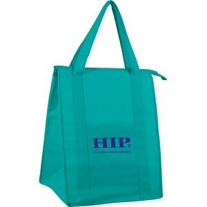 "Non Woven Insulated Grocery/Lunch Bag w/ 1 Color Imprint (13""x10""x15"")"