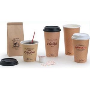 20 Oz. Tan Insulated Hot Paper Cup