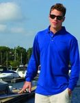 Custom Inner Harbor Long Sleeve Pique Knit Shirt
