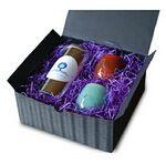 Custom Rare Organic Tea in Tall Tin w/2 Tea Cups & Gift Box