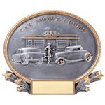 Custom Show & Cruise 3D Oval Resin Awards -Large - 8-1/4