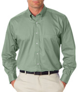 Van Heusen Mens Long Sleeve Dress Shirt - Embroidered
