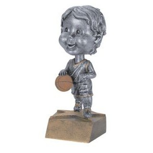 "Resin Male Basketball Bobble Head (6"")"