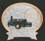 Custom BBQ, Oval Sport Legend Plates - 6