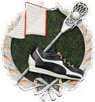 Custom Lacrosse Plaque Mount - Antique Silver & Full Color 3-1/2