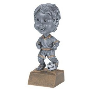 "Resin Male Soccer Bobble Head (6"")"