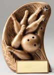 Custom Bowling, Curve Series Resin Sculptures - 5-1/2