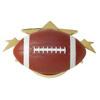 Custom Football - Star Sport - Plaque Mount - 2-1/2