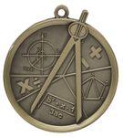 Custom Math Mega Medal - 2-1/4