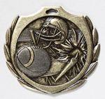 Custom Football Burst Medal - 2 1/4