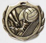 Custom Volleyball Burst Medal - 2 1/4