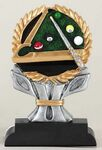 Custom Ric Resin Impact Series Billiards Trophy - 6