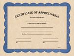 Custom Certificate of Appreciation - Parchtone 8-1/2