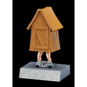 "Outhouse Bobble Head (5 1/2"")"