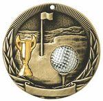 Custom Golf, Tri-Colored Medal, 2