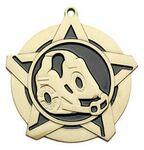 Custom Super Star Medal -Wrestling- 2-1/4
